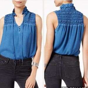 Free People Ruffle Me Up Smocked Top